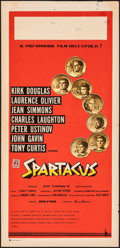 "Movie Posters:Action, Spartacus (Universal International, 1960). Folded, Fine+. Italian Locandina (13"" X 27.5"") Saul Bass & Reynold Brown Artwork...."
