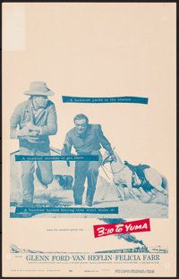 "3:10 to Yuma & Other Lot (Columbia, 1957). Fine/Very Fine. Window Cards (3) (14"" X 22""). Western..."