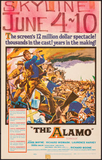 "The Alamo & Other Lot (United Artists, 1960). Fine/Very Fine. Window Cards (2) (14"" X 22""). Reynold Br..."
