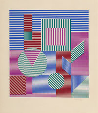 Victor Vasarely (1906-1997) Fondau, c. 1979 Serigraph in colors on wove paper 26-1/8 x 24 inches
