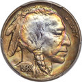 Buffalo Nickels, 1938-D/S 5C FS-512 MS67+ PCGS. CAC....