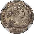 Early Half Dimes, 1797 H10C 16 Stars, V-4, LM-2, R.4 -- Reverse Scratched -- NGC Details. XF....