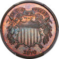 Proof Two Cent Pieces, 1870 2C PR67 Brown PCGS. CAC....
