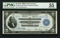Fr. 780 $2 1918 Federal Reserve Bank Note PMG About Uncirculated 55