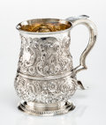 Silver & Vertu, A George II Repoussé Silver Tankard Attributed to William Shaw & William Priest, London, 1755. Marks: (lion passant), (crown...