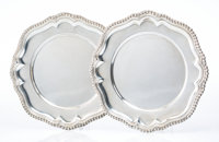 A Pair of Black, Starr & Frost Silver Chargers, New York, 1876-1929 Marks: (eagle), BLACK, STARR & FROST., 7053...