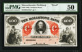 Obsoletes By State:Massachusetts, Fitchburg, MA- Rollstone Bank $100 18__ G18a Proof PMG About Uncirculated 50.. ...