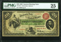 Large Size:Interest Bearing Notes, Fr. 197a $20 1863 Interest Bearing Note PMG Very Fine 25.