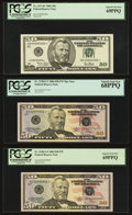 Small Size:Federal Reserve Notes, $50 Federal Reserve Notes 2001-2009 Six Examples.. ... (Total: 6 notes)