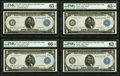 Fr. 851a $5 1914 Federal Reserve Note PMG Gem Uncirculated 66 EPQ★ , Gem Uncirculated 65 EPQ*, Gem Uncirculated 65 EPQ...