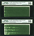 Fr. 1921-D $1 1995 Federal Reserve Notes. Two Consecutive Examples. PMG Choice About Unc 58 EPQ. ... (Total: 2 notes)