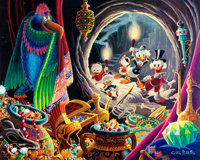 Carl Barks Dangerous Discovery Signed Limited Edition Lithograph Print #60/350 (Another Rain