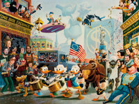 Carl Barks July Fourth in Duckburg Signed Limited Edition Lithograph Print #322/350 (Another