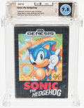 Video Games:Sega, Sonic the Hedgehog [Earlier Retail Release] Wata 7.5 CIB GEN Sega 1991 USA....
