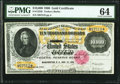 Large Size:Gold Certificates, Fr. 1225h $10,000 1900 Gold Certificate PMG Choice Uncirculated 64.. ...