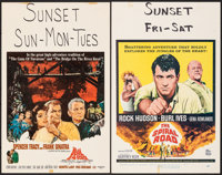 """The Devil at 4 O'Clock & Other Lot (Columbia, 1961). Fine/Very Fine. Window Cards (7) (14"""" X 22""""). Howard..."""