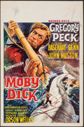 Movie Posters:Adventure, Moby Dick (Warner Bros., 1956). Folded, Fine/Very Fine.