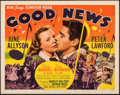 Movie Posters:Musical, Good News (MGM, 1930). Folded, Very Fine-. Half Sh...