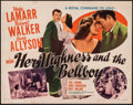 Movie Posters:Comedy, Her Highness and the Bellboy (MGM, 1945). Folded, Fine+.
