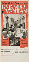 """Movie Posters:Foreign, Waiting Women (Svensk Film, 1953). Folded, Very Fine-. Swedish Insert (13"""" X 27.5""""). Foreign.. ..."""