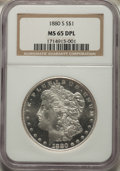 1880-S $1 MS65 Deep Mirror Prooflike NGC. NGC Census: (431/122). PCGS Population: (626/252). MS65. ...(PCGS# 97119)