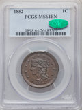 1852 1C MS64 Brown PCGS. CAC. PCGS Population: (228/158). NGC Census: (171/165). CDN: $345 Whsle. Bid for problem-free N...