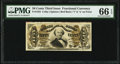 Fractional Currency:Third Issue, Fr. 1325 50¢ Third Issue Spinner PMG Gem Uncirculated 66 EPQ.. ...