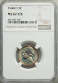 1944-D 5C FS-501, MS67 Full Steps NGC. NGC Census: (0/0). PCGS Population: (2/0). Mintage 32,309,000....(PCGS# 84023)