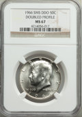 1966 50C SMS, Doubled Profile, MS67 NGC. NGC Census: (104/24). PCGS Population: (1559/123). CDN: $50 Whsle. Bid for prob...