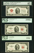 $2 Legal Tender Notes Six Examples Third Party Graded. PMG Gem Uncirculated 66 EPQ