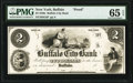 Obsoletes By State:New York, Buffalo, NY- Buffalo City Bank $2 18__ as G4 Proof PMG Gem Uncirculated 65 EPQ.. ...