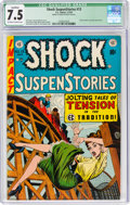 Golden Age (1938-1955):Horror, Shock SuspenStories #13 (EC, 1954) CGC Qualified VF- 7.5 Off-white to white pages....
