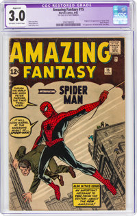 Amazing Fantasy #15 Trimmed (Marvel, 1962) CGC Apparent GD/VG 3.0 Off-white to white pages