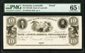 Obsoletes By State:Kentucky, Louisville, KY- Bank of Louisville at Bank of North America, Philadelphia $10 18__ UNL Proof PMG Gem Uncirculated 65 EPQ....