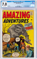 Silver Age (1956-1969):Horror, Amazing Adventures #1 (Marvel, 1961) CGC FN/VF 7.0 Off-white pages....
