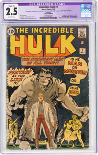The Incredible Hulk #1 Trimmed (Marvel, 1962) CGC Apparent GD+ 2.5 Slight (A) Off-white pages