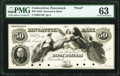 Obsoletes By State:Connecticut, Pawcatuck, CT- Pawcatuck Bank $50 18__ as G16 Proof PMG Choice Uncirculated 63.. ...