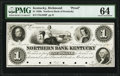 Obsoletes By State:Kentucky, Lexington, KY- Northern Bank of Kentucky, Richmond Branch $1 18__ G286 Hughes 433 Proof PMG Choice Uncirculated 64.. ...