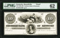 Obsoletes By State:Kentucky, Russellville, KY- Southern Bank of Kentucky $10 18__ G340 as Hughes 747 Proof PMG Uncirculated 62.. ...