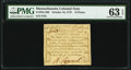 Colonial Notes:Massachusetts, Massachusetts October 16, 1778 12d PMG Choice Uncirculated 63 EPQ.. ...