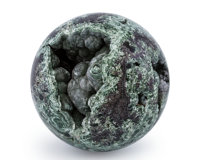 Seraphanite Sphere Kola Peninsula Murmanskaya Oblast', Northern Region Russia 2.48 inches (6.30 cm) in dia