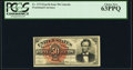 Fractional Currency:Fourth Issue, Fr. 1374 50¢ Fourth Issue Lincoln PCGS Choice New 63PPQ.. ...