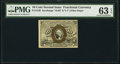 Fractional Currency:Second Issue, Fr. 1249 10¢ Second Issue PMG Choice Uncirculated 63 EPQ.. ...