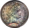 Proof Barber Quarters, 1908 25C PR68 PCGS....