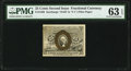 Fractional Currency:Second Issue, Fr. 1289 25¢ Second Issue PMG Choice Uncirculated 63 EPQ.. ...