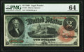 Large Size:Legal Tender Notes, Fr. 42 $2 1869 Legal Tender PMG Choice Uncirculated 64.. ...