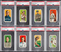 Baseball Cards:Lots, 1909-11 T206 Piedmont/Sweet Caporal PSA Good 2 Collection (8)....