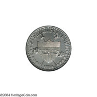 1896 1C One Cent, Judd-1767, Pollock-1982, Low R.7, Impaired Proof, Plated, NCS. One of just a handful of designs from t...