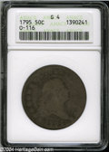 Early Half Dollars: , 1795 50C 2 Leaves Good 4 ANACS....