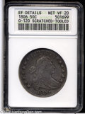 Early Half Dollars: , 1806 50C Pointed 6, Stem--Scratched, Tooled--ANACS. XF Details, NetVF20....